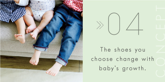 The shoes you choose change with baby's growth.